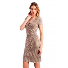 LISA DOT VISCOSE DRESS