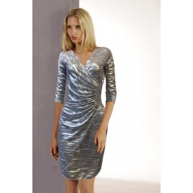 ROBE LISA BRILLANT ARGENT/ OR