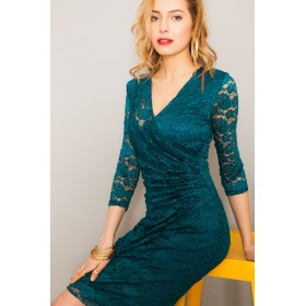 LISA LACE PIGEON BLUE DRESS