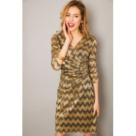 LISA MISSO GOLD DRESS