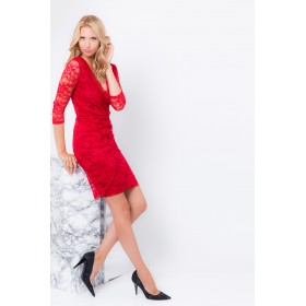 LISA LACE RED DRESS
