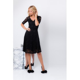 REGINE PLAIN LACE DRESS