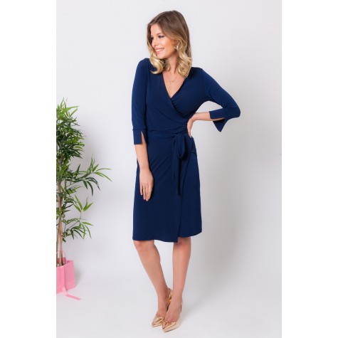 DIANE PLAIN NAVY DRESS