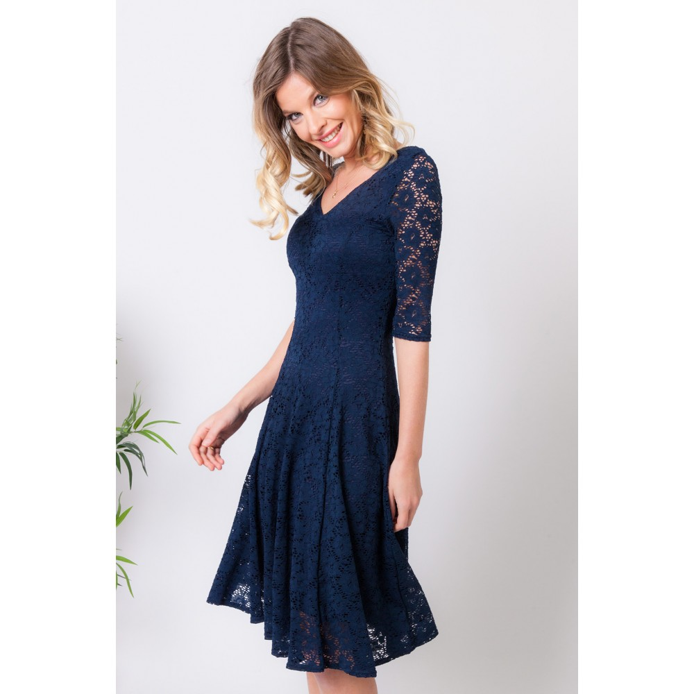 Discover the Regine Navy Lace dress by Lonkel