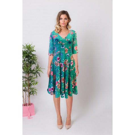 REGINE FLOWER LACE DRESS