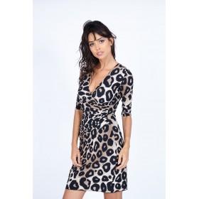 LISA PANTHERE DRESS