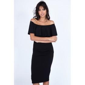 BRIGITTE BLACK DRESS