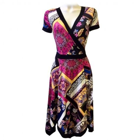 FOULARD PINK FLOWER DRESS
