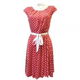EDA NIGER RED DOT DRESS