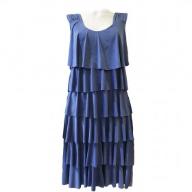 PETRA PLAIN BLUE DRESS
