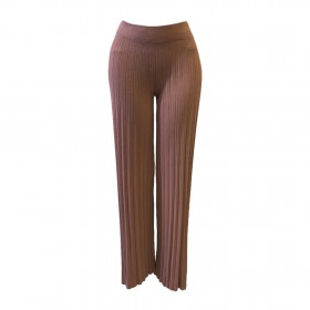 PLEATED VISCOSE PANTS